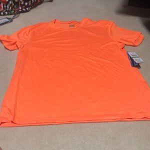 Men's large orange work out shirt.
